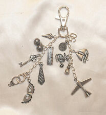 50 'Fifty Shades of Grey' Inspired Tibetan Silver Bag/ Key Charm Gift Keepsake