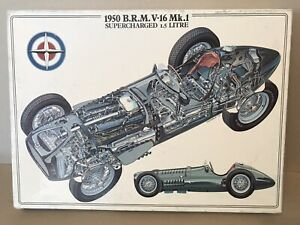 """1950 BRM V-16 Mk 1 Supercharged 1.5 Litre Vintage 1000pc Jigsaw Puzzle """"New"""""""