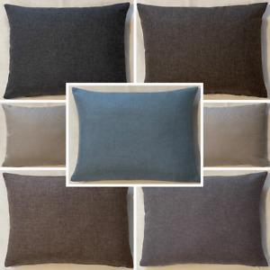 High Quality Handmade Rectangle Sierra Linen Look Cushion Cover Sofa Bed Zipper