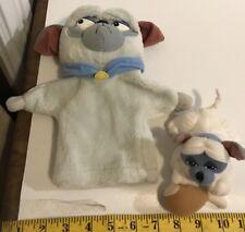 Mattel Walt Disney Pocahantas Percy Plush Dog Hand Puppet And Finger Puppet