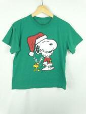 Peanuts Snoopy Women's Top Medium Christmas Holiday Woodstock Short Sleeve Shirt