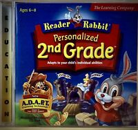 (READER RABBIT, 2nd grade, Math, Science, Reading, MAC/PC Computer CD-ROM games