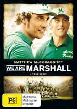 WE ARE MARSHALL DVD True story Ex rental good condition PG Matthew McConaughey