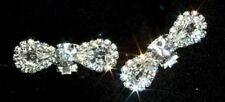 Gorgeous Pave Small Bow Shoe Clips Charms--1 Pair-Bridal Party-