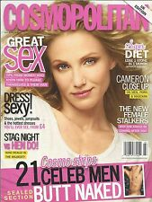 Cosmopolitan Magazine Cameron Diaz Great Sex Super Diet Naked Male Celebrities