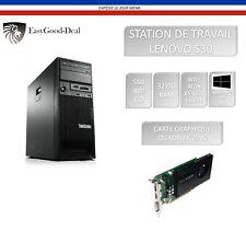 ORDINATEUR LENOVO S30 XEON E5-1620 3,60 Ghz SSD 480 Go 32 Go RAM QUADRO K2000