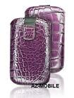 Case Push Pouch Cover Case S LEATHER Skin Croco Purple Apple IPHONE 0.1oz 3GS