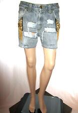 LEE Vtg Distress Womens Shorts Jeans Hand Custom High Waist Hot Pants sz 31 AF44