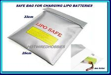 LIPO BATTERY SAFE GARD CHARGING BAG LARGE ACCUCEL 6 XT60 DEANS EC3 IMAX B6AC