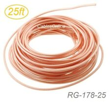 25ft RG178 Bulk 50 Ohm High Temperature Coax Cable, RG-178-25