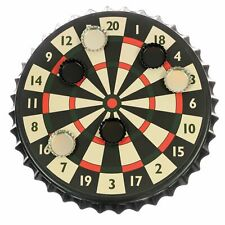 Funtime Unisex's EG3500 Magnetic Bottle Cap Darts Black Red Beige and Green