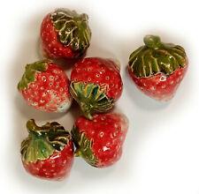 Ceramic Glazed Decorative Strawberry Colorful handmade Ceramics Home decor gift