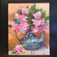 Emiliya Lane 9x12 oil painting original framed signed contemporary impressionism