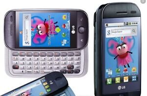 LG GW620 Slide Black Dummy Mobile Cell Phone Display Toy Fake Replica