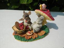 Fitz Floyd Charming Tails~Lifes A Picnic with You~Mint Figurine ~83/701~