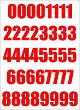 Set 40x autocollant sticker porte voiture moto numero nombre chiffre course roug