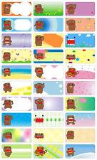 Domo Kun boys girPersonalised Name Label preschool childcare water proof sticker