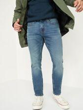 NEW Old Navy Skinny Built In Flex Jeans Men's 36X34 NWT $40 Medium Wash Blue