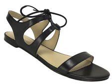 Pour La Victoire Women's Lacey Lacey Dress Sandal Black Leather Size 8 M