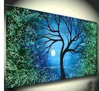 CHENPAT47 big night landscape 100% hand-painted oil painting art on canvas