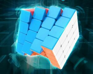 Moyu  4x4x4 Stickerless Meilong Speed Magic Puzzle Cube Stress Toys For Kids