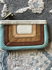 Fossil leather boho card and money holder wallet