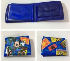 Disney Mickey Mouse Child Coin Photo Trifold Vinyl Wallet Vintage 4� X 3.5�