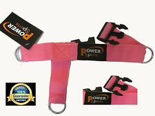 'PINK' Womens 3-Ring Foot Strap  Cable Gym Machine Attachment sold Single