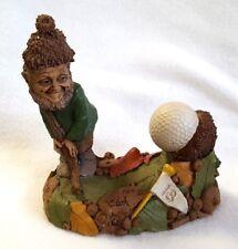 "Tom Clark Gnome Little Ben Playing Golf Acorns 1995 5277 Resin Cairn Studio 6"""