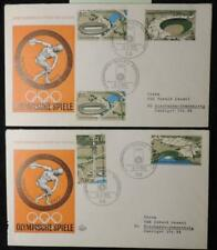 Germany 1972 FDC x2 covers munich olympic games stadium good used