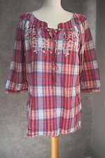 Top 14 | Red Blue and White Check Blouse | Falmer