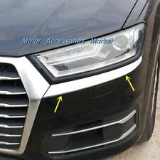 New Chrome Head Light Trim For Audi Q7 2016 2017 2018 2019