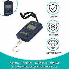 Portable 40kg/10g Electronic Hanging Fishing Digital Pocket Weight Hook Scale#^