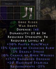 Gore Rider Boots   Blutreiter Stiefel   Diablo 2 Resurrected D2R SC PC