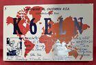 1955+QSL+Radio+Card+K6ELN+Amateur+Radio%2C+Hollywood+45%2C+California