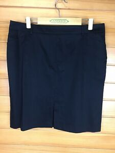 Target Collection Black Short Cotton Pencil Work Skirt Size 14-16 EUC
