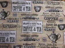 Coffee Break Latte Tea Espresso On Tan Valance
