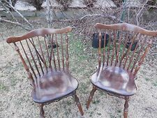 VINTAGE EATAN ALLEN PINE  WINDSOR CHAIRS