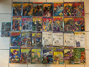 WIZARD The Guide to Comics Lot of 29 Magazine Books No. 1-5, 8, 10-18, 22-33