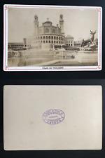 Paris, palais du Trocadéro Vintage albumen print, carte cabinet.  Tirage album