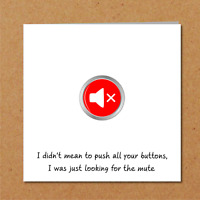 Funny card for wife, husband, partner - Valentines Birthday Anniversary amusing