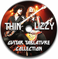 THIN LIZZY ROCK GUITAR TAB TABLATURE SONG BOOK ANTHOLOGY SOFTWARE CD
