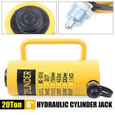 20 Tons 6 Stroke Single Acting Hydraulic Cylinder 10000psi Jack Ram Usa New
