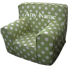 Insert For Anywhere Chair + Green Polka Dot Cover Reg Size Embroidered White
