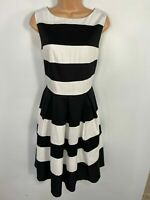 BNWT WOMENS DOLLY & DOTTY AURORA BLACK/WHITE 50'S ROCKABILLY SWING DRESS UK 18