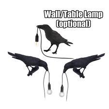Vintage Resin Bedroom Crow Shaped Light Bedside Wall Lamp for Living Room