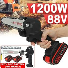 Mini Electric Chainsaw,4 Inch Cordless Protable Chainsaw W/ Rechargeable Battery