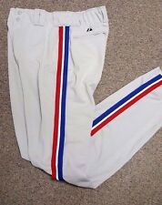 MONTREAL EXPOS AUTHENTIC THROWBACK BASEBALL PANTS TRIM FREE SHIP