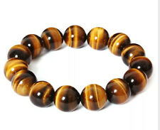 8mm Natural Stone  African Roar Natural Tiger's Eye Round Beads bracelet 7.5''BT