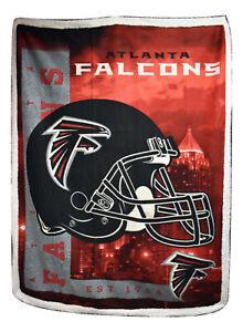 Northwest Atlanta Falcons Licensed NFL Fleece Lightweight Throw Blanket 57 X 77